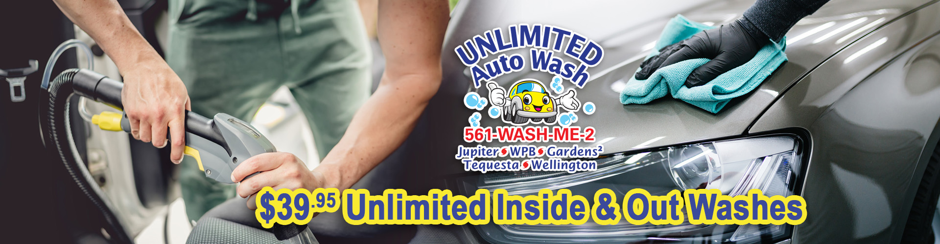 Unlimited Auto Wash Inside & Outside Washes